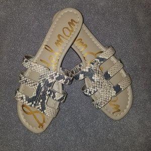 Sam Edelman Snake print sandal slides Size 8